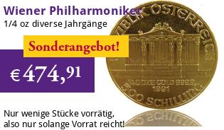 Wiener Philharmoniker 1/4 oz div. Jg.
